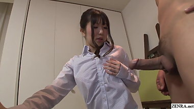 Uncensored JAV CFNM nude art class blowjob Subtitles