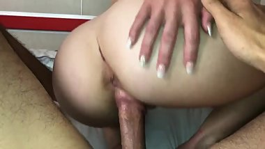Ass shaking - booty spanking big butt milf rides cock