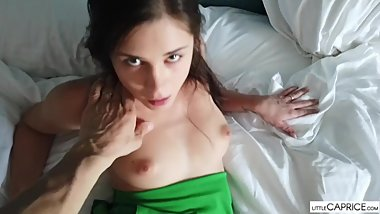 CREAM PIE, Little Caprice - her Beautiful pussy get´s fucked POV dreams