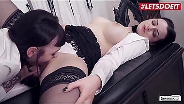 LETSDOEIT - Lesbian Secretaries Squirt In Front of Their Boss - Part 1