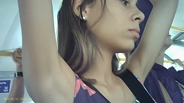 Armpit Candid in The Bus Part 19