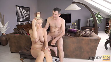 DADDY4K. Nikki tries cock of lovers father because wants exp