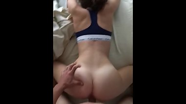 Teen with fat round ass fucked doggystyle pov