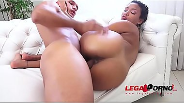 Sexy brazilian slut Marcella Shultz assfucked 3on1 &amp_ DP'_ed BZ020