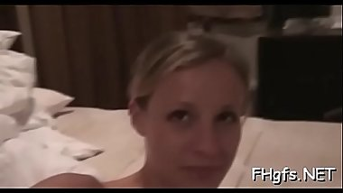 Pungent blonde maid fucking