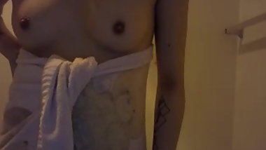 Ella Hairy Teen after shower  part1