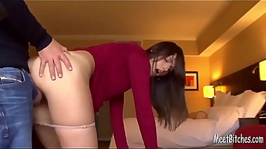 Hot brunette with sexy ass from MeetBitches.com