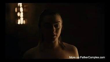 Arya Stark Nude and Sex Scene in Game of Thrones Maisie williams Naked