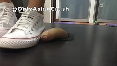 Taiwanese Converse cock stomp