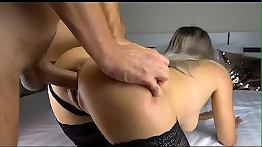 french babe hard pounded in the pussy doggystyle