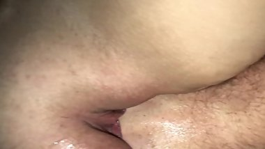 Homemade amateur wife fisting (can't quite fit it)
