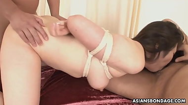 Bondage and throatfuck for Haruka Osawa feels better than an