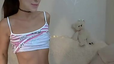 Cute Petite Teen On Webcam