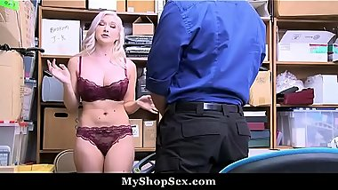 Emily Right Gets Her Big Boobs Titty Fucked By LP Officer For Stealing
