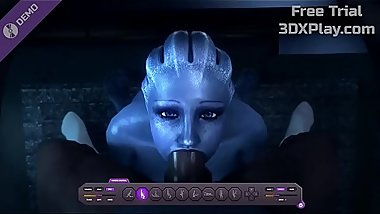 Mass Effect Porn Liara Blowjob Sucked Dick