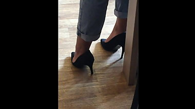 Candid feet and heels at work #11
