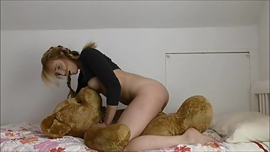 Humping And Fucking My Big Teddy Bear