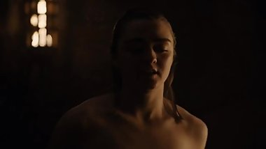 Arya Stark full sex scene. Maisie Williams Topless!