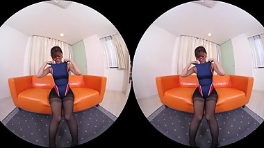 360 VR japanese teen black stockings footfetish