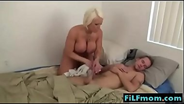 Italian Hot mom likes sleeping son big dick - I found the girl @ FiLFmom.com