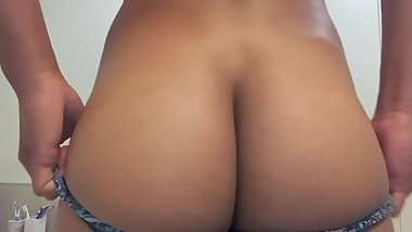 Teen Teases Ass With Panties On