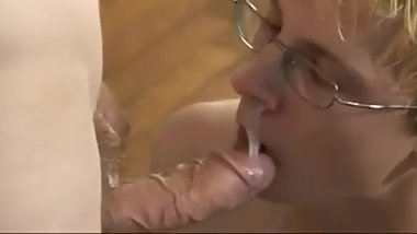 cumming on horny boys face