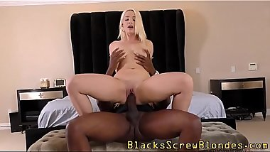 Teen riding black schlong