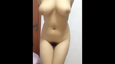 Busty body big breasts mask sister