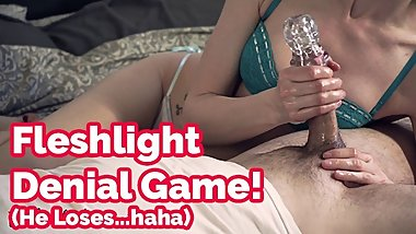 Don't say a word! Fleshlight cock tease, edging game & denial  Veronica