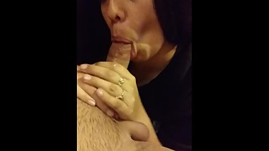 Cheating latina sucking my dick