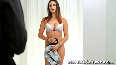 18yo babe Ashley Adams pussy domination in bondage casting