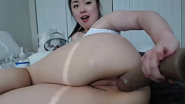 Harassed 40min anal big dildo play