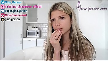 Gina Gerson , homevideo, interview, for fans, answer questions part 4, pornstar