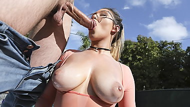 TeamSkeet - Hot Busty Teen Oiled Up And Fucked