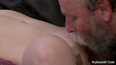 Bearded man caught banging his son'_s girlfriend