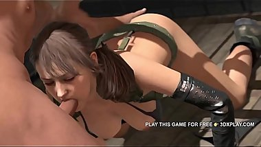 METAL GEAR PORN (SOUND) - QUIET SUCKING COCK