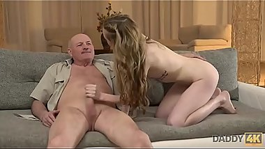 DADDY4K. Slender Jessi is happy to get closer to young mans father