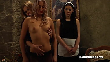 Young Lesbian Slave Unwraps Big Mistresses's Gift