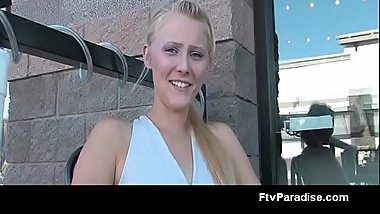 Ftvgirls Presents Adorable Blonde Flashing Outdoor