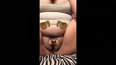 Snapchat dog filter on my pussy