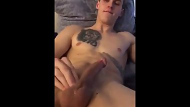 Hot young stud cumming hard