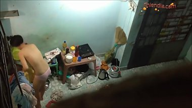 Sneaking motel room of Vietnam student girl
