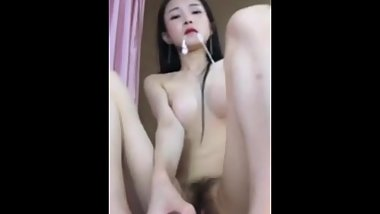 CHINESE AND KOREAN MIXED-RACE BEAUTY MASTURBATION POWDER SHOW