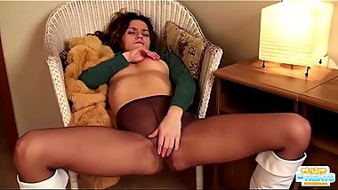 Sexy young models in pantyhose fucked