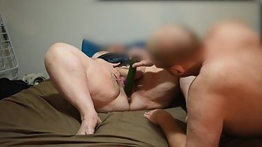 BROTHER FUCKS HIS BBW STEP SISTER WITH HUGE CUCUMBER LIKE HIS DREAM WHORE
