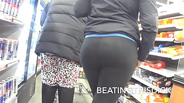 SHORTY THICK AZZ FUCK SEE THOUGH LEGGING