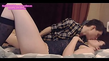 Teen couple erotic kiss on cam