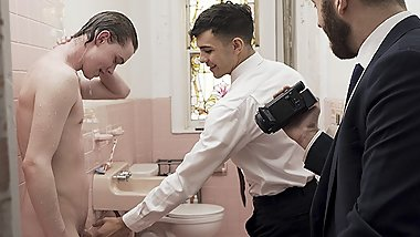MissionaryBoys - Hot Priest And A Missionary Boy Anally Fuck A New Recruit