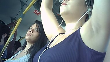 Armpit Candid in The Bus Part 16