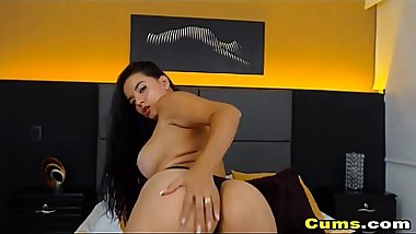 Latina With Big Tits Fucking Her Juicy Pussy